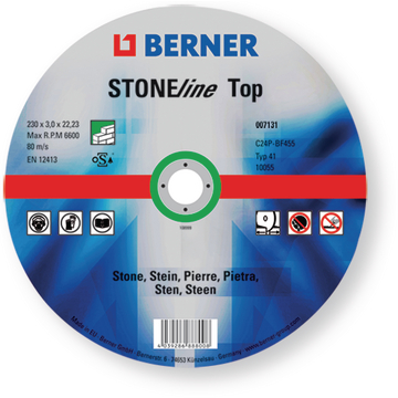 Disco de corte STONEline Top, medidas 230 x 3 x 22,23 mm